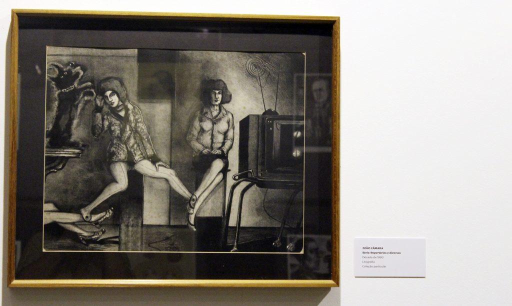 Arte de João Câmara, série: repertório e diversos, década de1980. Litografia